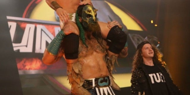 Luchasaurus Reportedly Injured, Pulled From AEW Dynamite's Tag Team Tournament Match