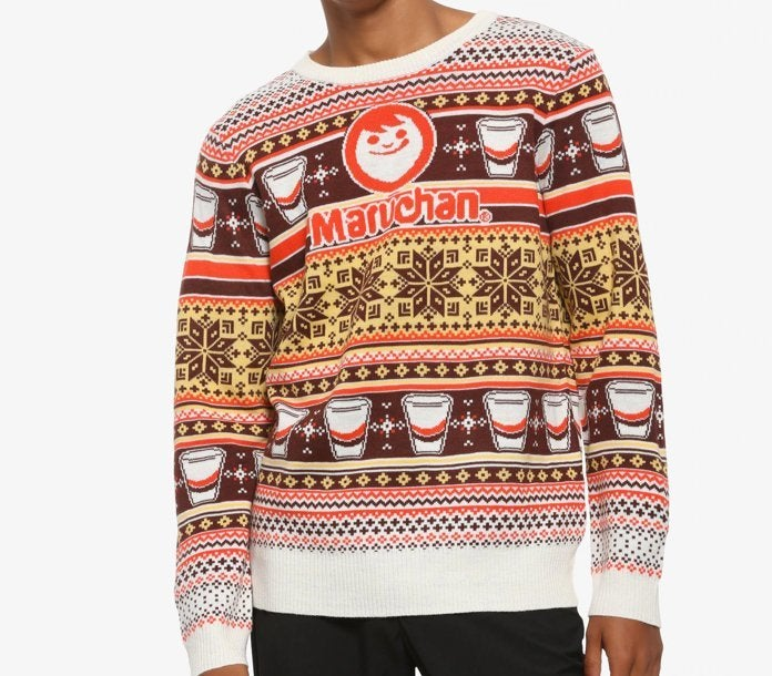 Anime Christmas Sweater.Your Quest For A Maruchan Ramen Ugly Christmas Sweater Is Over