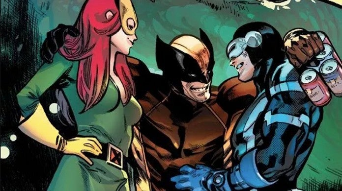 Marvel X-Men 1 Hickman Reveals Cylops Wolverine Jean Grey Love Triangle Threesome Polyamorouspng
