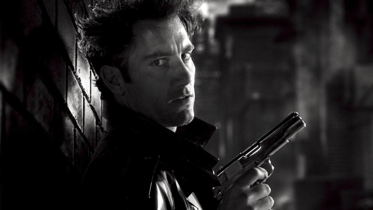men sin city monochrome actors handguns clive owen greyscale 4408x2480 wallpaper_wwwwallpaperhicom_49