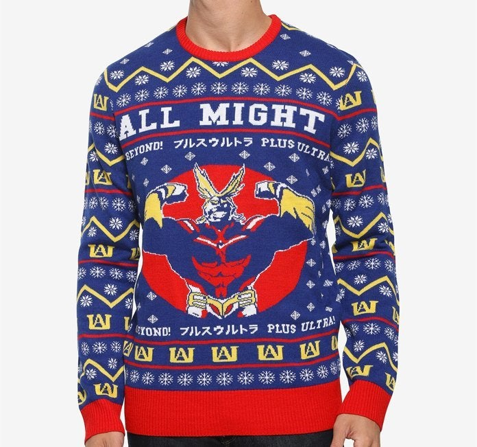 my-hero-academia-all-might-ugly-sweater