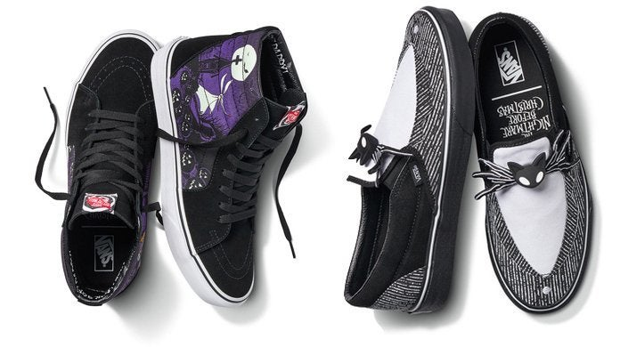 The Vans x Disney The Nightmare Before Christmas Shoe and