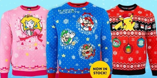 Official Nintendo Pokemon and Super Mario Ugly Christmas Sweaters Are Available Now