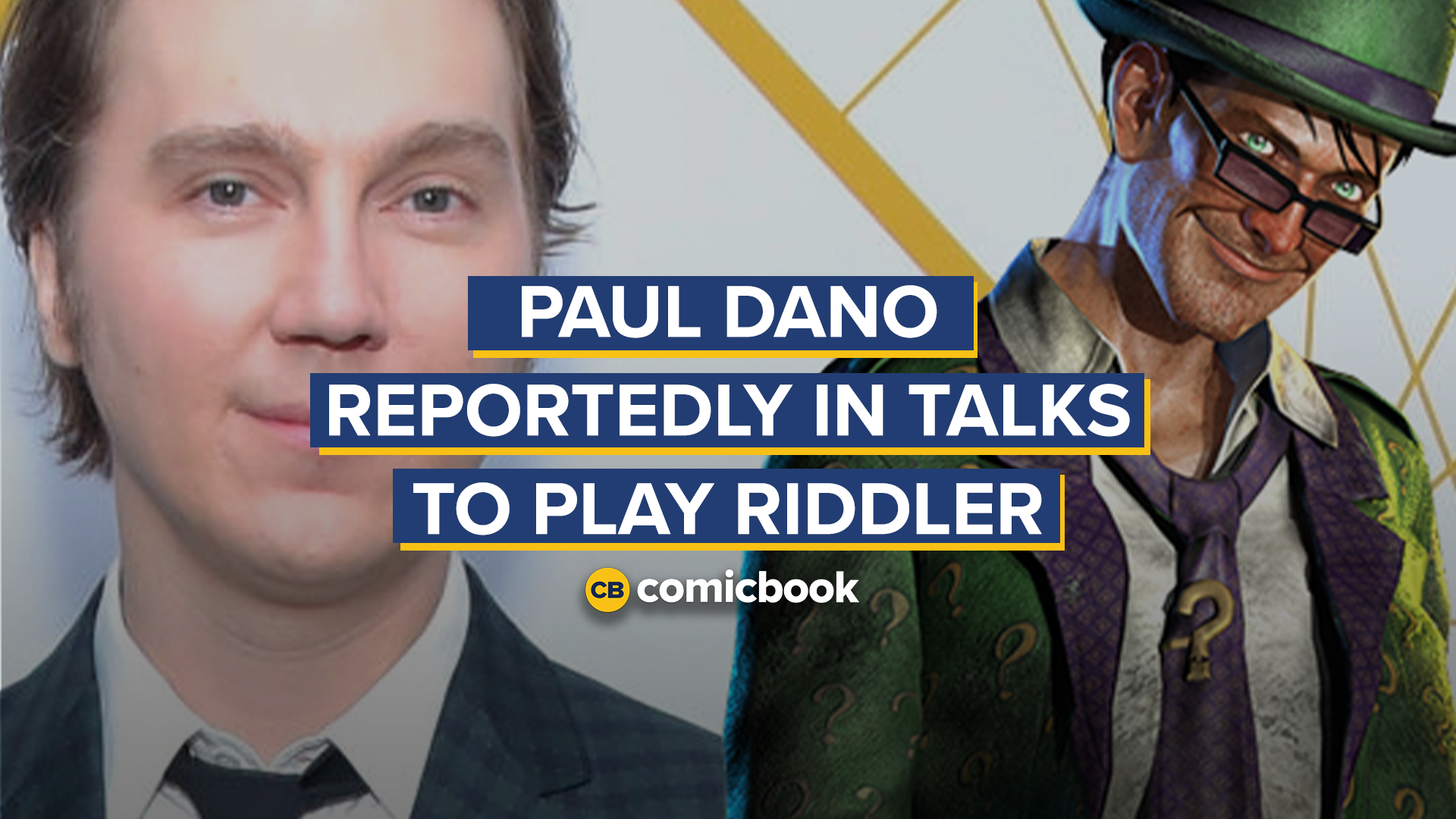 Paul Dano Reported in Talks to Play Riddler in THE BATMAN screen capture