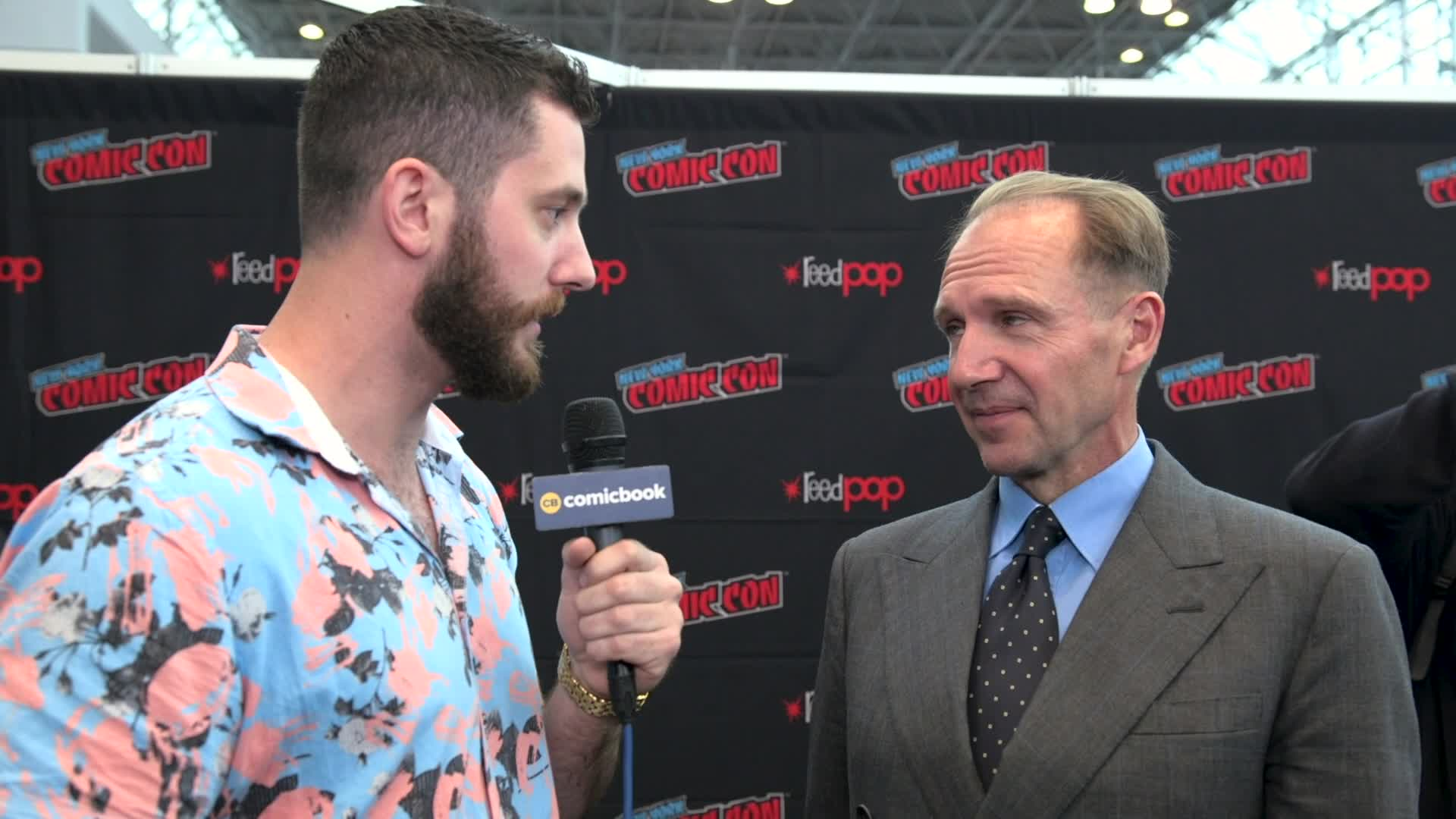Ralph Fiennes - NYCC 2019 Exclusive Interview screen capture