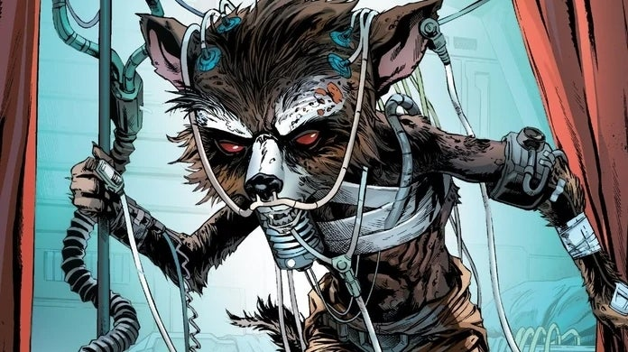 rocket raccoon dying guardians of the galaxy