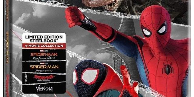 This Spider-Man 4-Movie Blu-ray Set Is a Bargain With a Bonus Steelbook