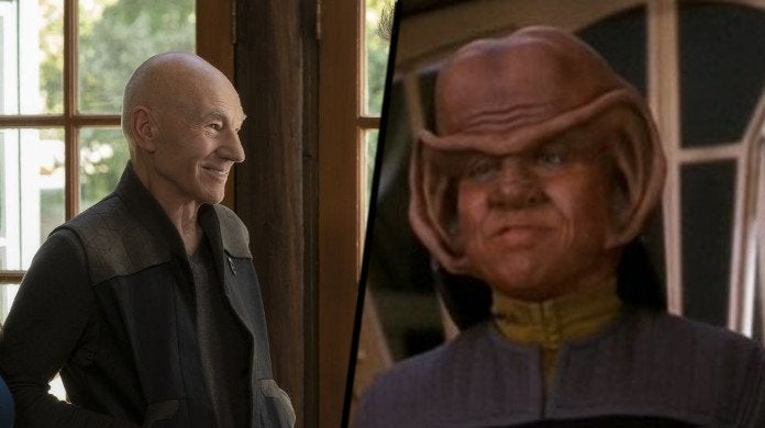 Star Trek Picard Captain nog
