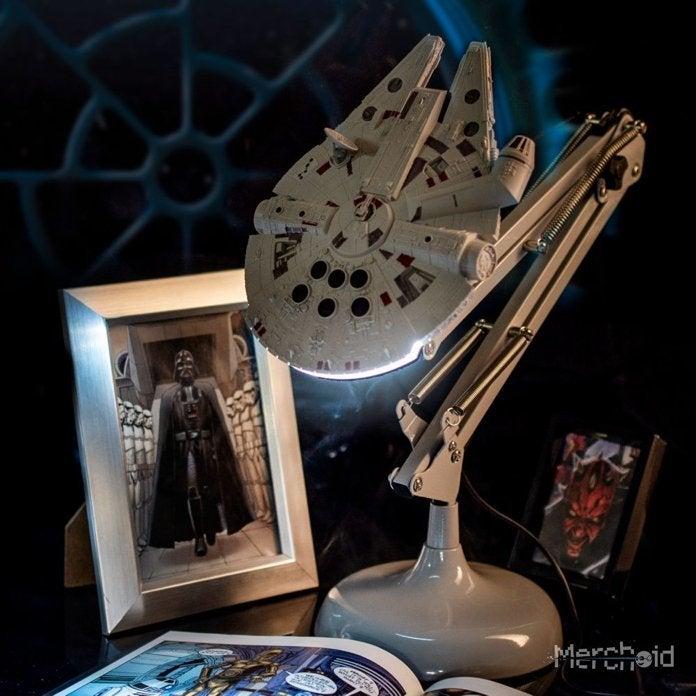The Star Wars Millennium Falcon Desk Lamp Is The Brightest