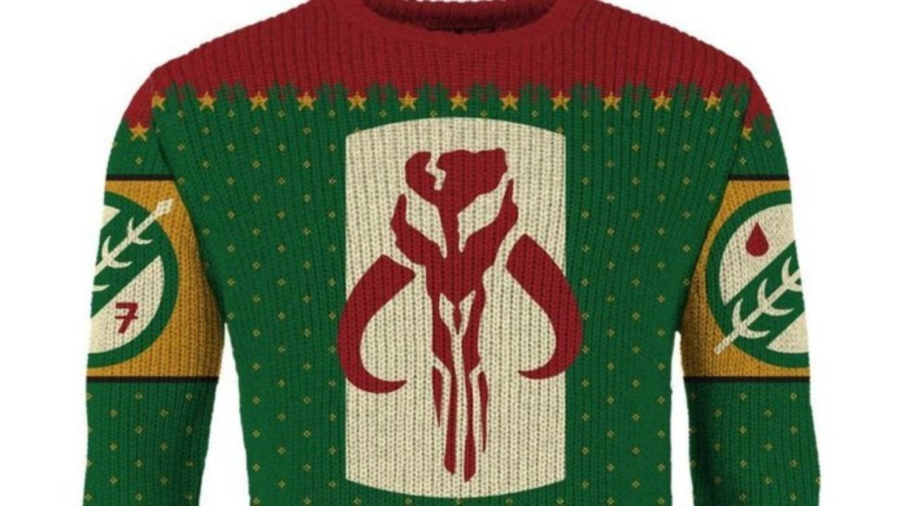 Boba Fett Christmas Jumper.Star Wars Ugly Christmas Sweaters Peak With The Merry