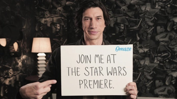 star wars the rise of skywalker adam driver omaze
