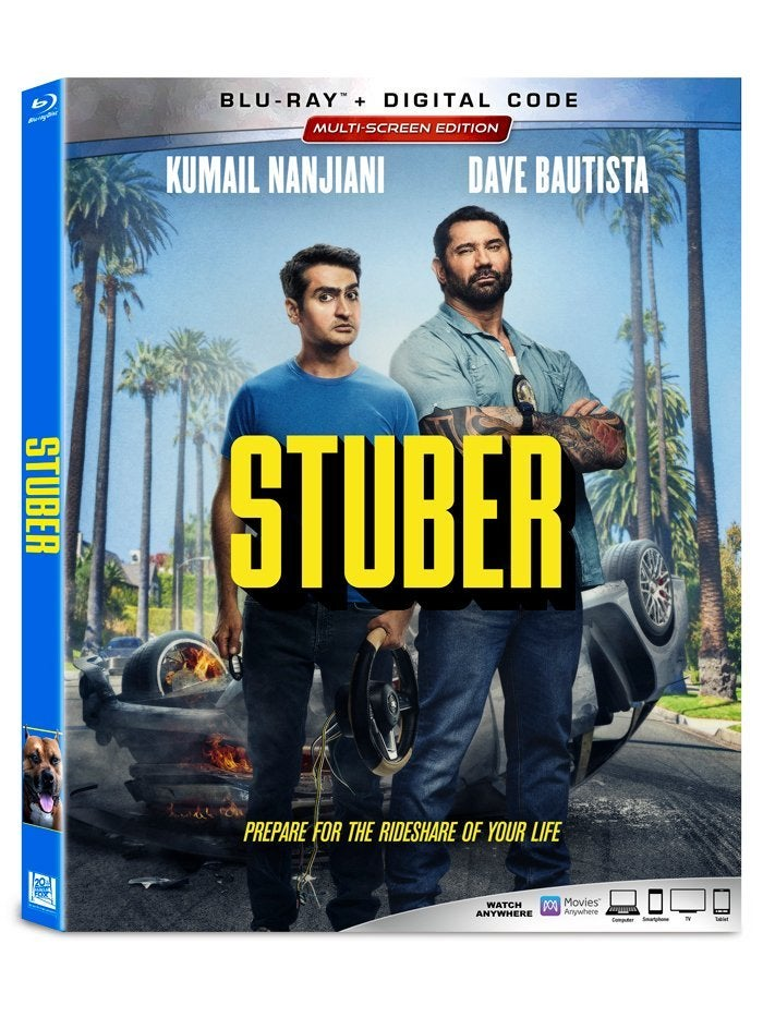 stuber blu ray box art 2019
