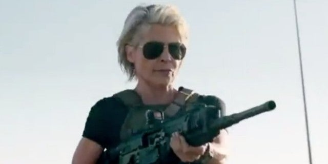 New Terminator: Dark Fate Clip Reveals Sarah Connor Action Scene