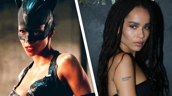 the batman catwoman zoe kravitz halle berry