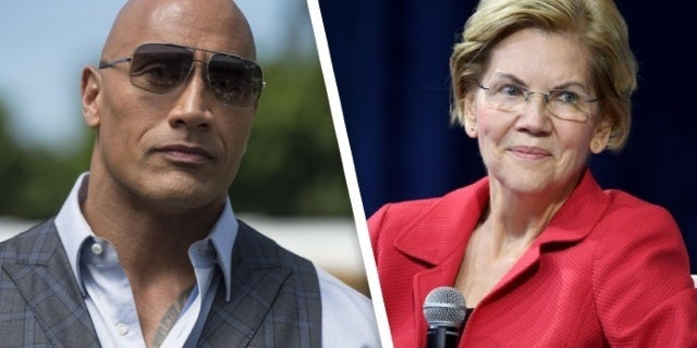 The Rock Praises Elizabeth Warren for Her Love of Ballers