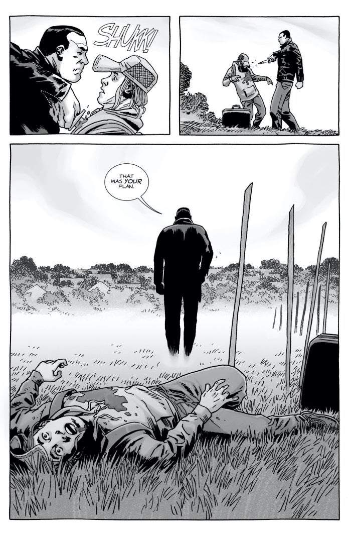 The Walking Dead 153 Brandon dies Negan