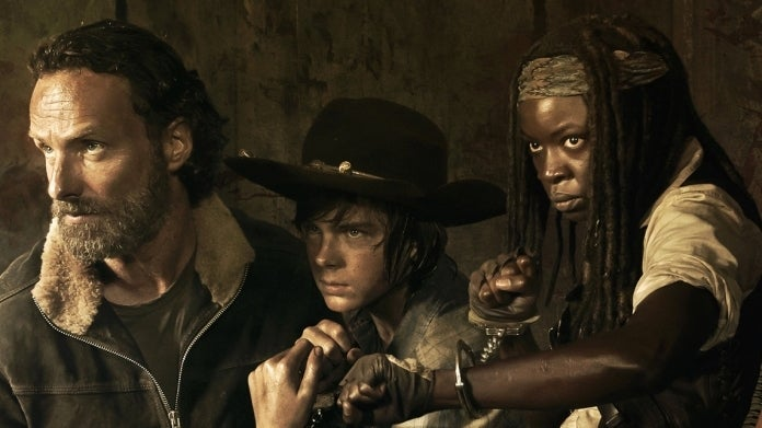 The Walking Dead Carl Rick Grimes Michonne