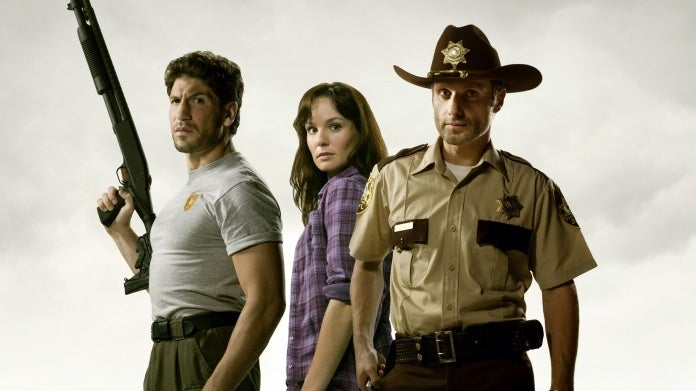 The Walking Dead Jon Bernthal Shane Andrew Lincoln Rick Sarah Wayne Callies Lori