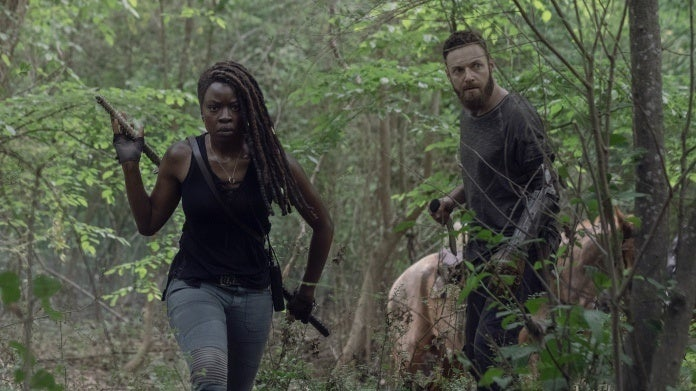 The Walking Dead Michonne Aaron season 10