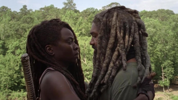 The Walking Dead Michonne Ezekiel kiss