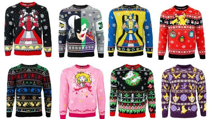 Ugly Christmas Sweaters 2019.More Marvel Dc Harry Potter Pokemon And Nintendo Ugly