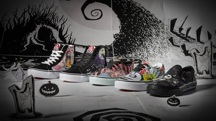 Christmas Shoe.The Vans X Disney The Nightmare Before Christmas Shoe And