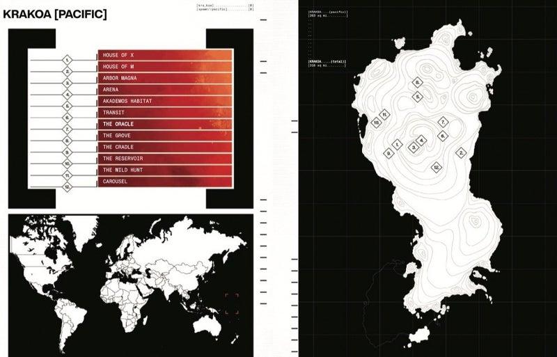 X-Men House of X Krakoa Map Atlantic Pacific