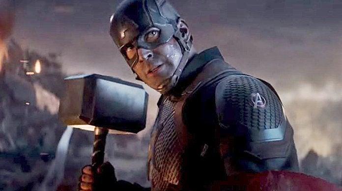 Avengers Endgame Captian America Thor Hammer Mjolnir