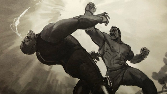 avengers endgame hulk thanos rematch fight