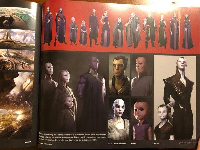 Avengers Infinity War Endgame Thanos Family Concept Art