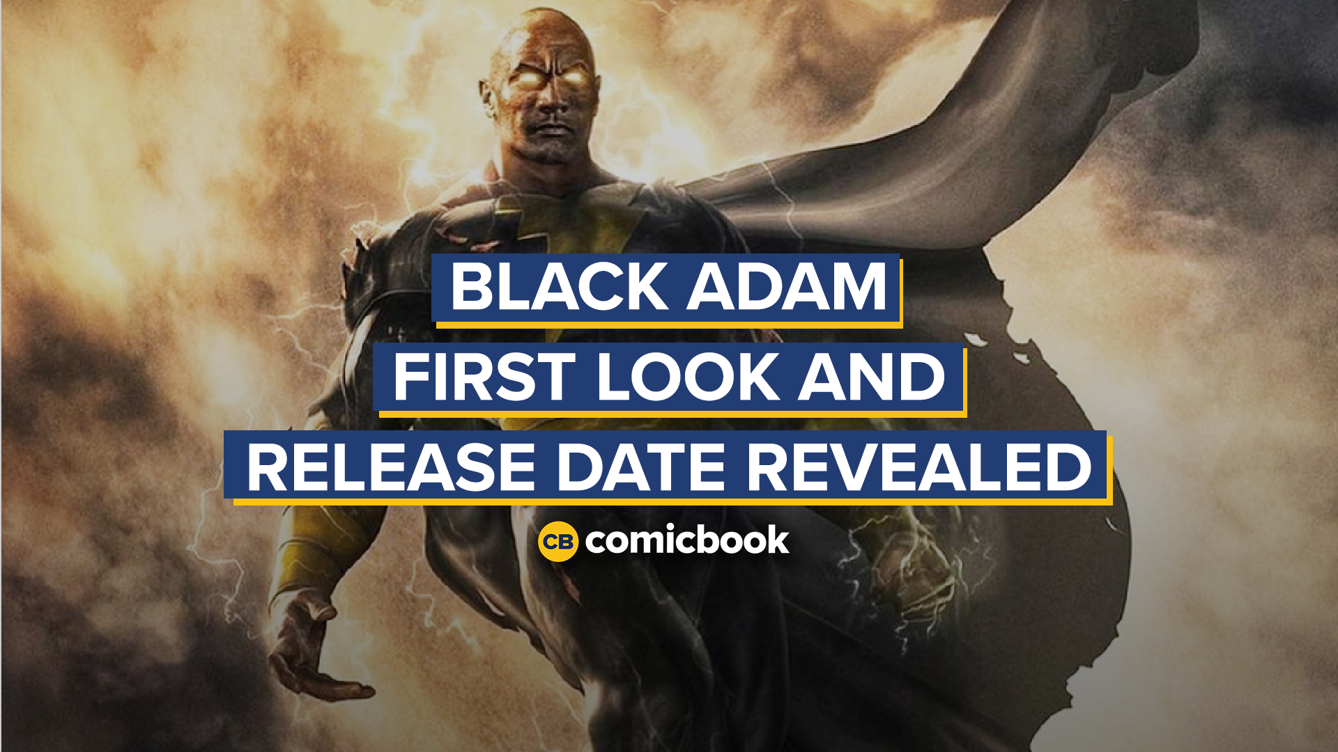 Black Adam First Look and Release Date Revealed screen capture