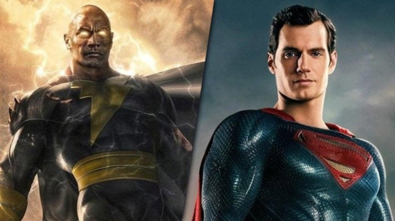 Superman Battles The Rock's Black Adam in BossLogic Art