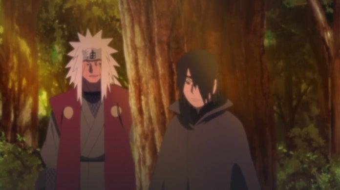 Boruto Anime 132 Sasuke Jiraiya Conversation Scene Naruto Future