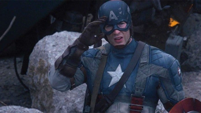 captain america chris evans salute