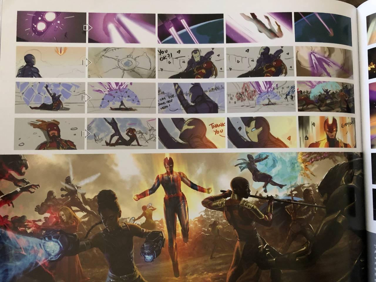 captain marvel storyboard avengers endgame