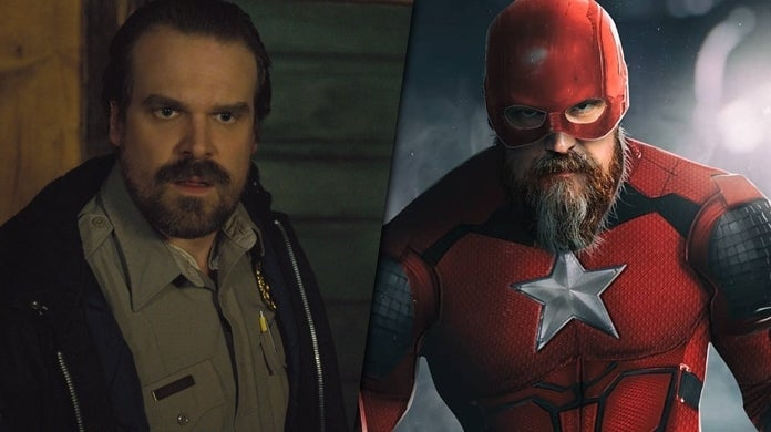 david harbour red guardian fan art