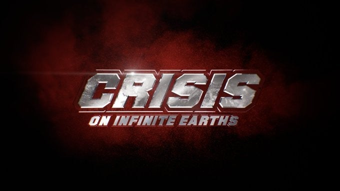 DC Arrowverse Crisis on Infinite Earths Title Logo Concept Art