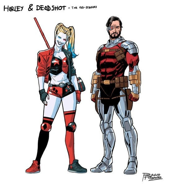 DC Suicide Squad 2020 Characters By Bruno Redondo - Harley Quinn and Deadshot