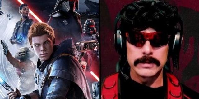 Dr Disrespect Reveals Unusual Criticism of Star Wars Jedi: Fallen Order