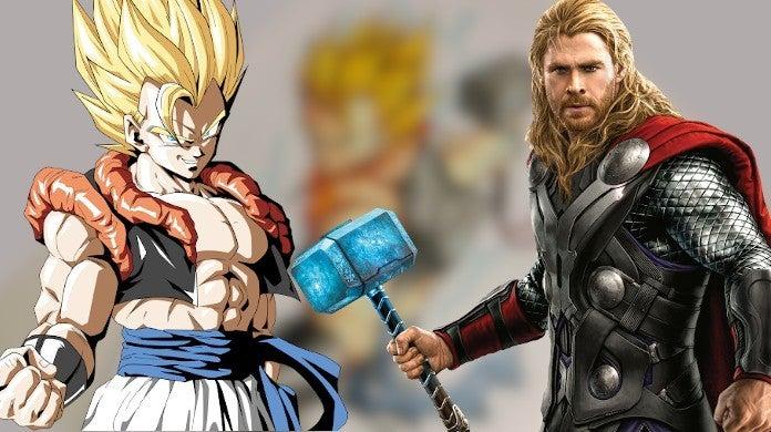 Dragon Ball Z Marvel Thor Hammer Mjolnir Mashup Artwork