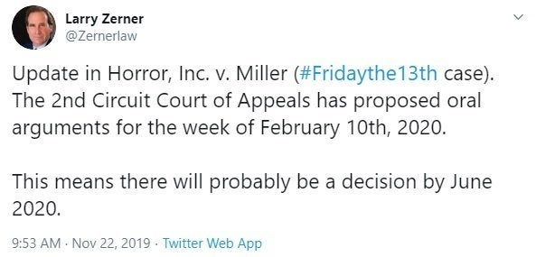 friday the 13th larry zerner rights dispute
