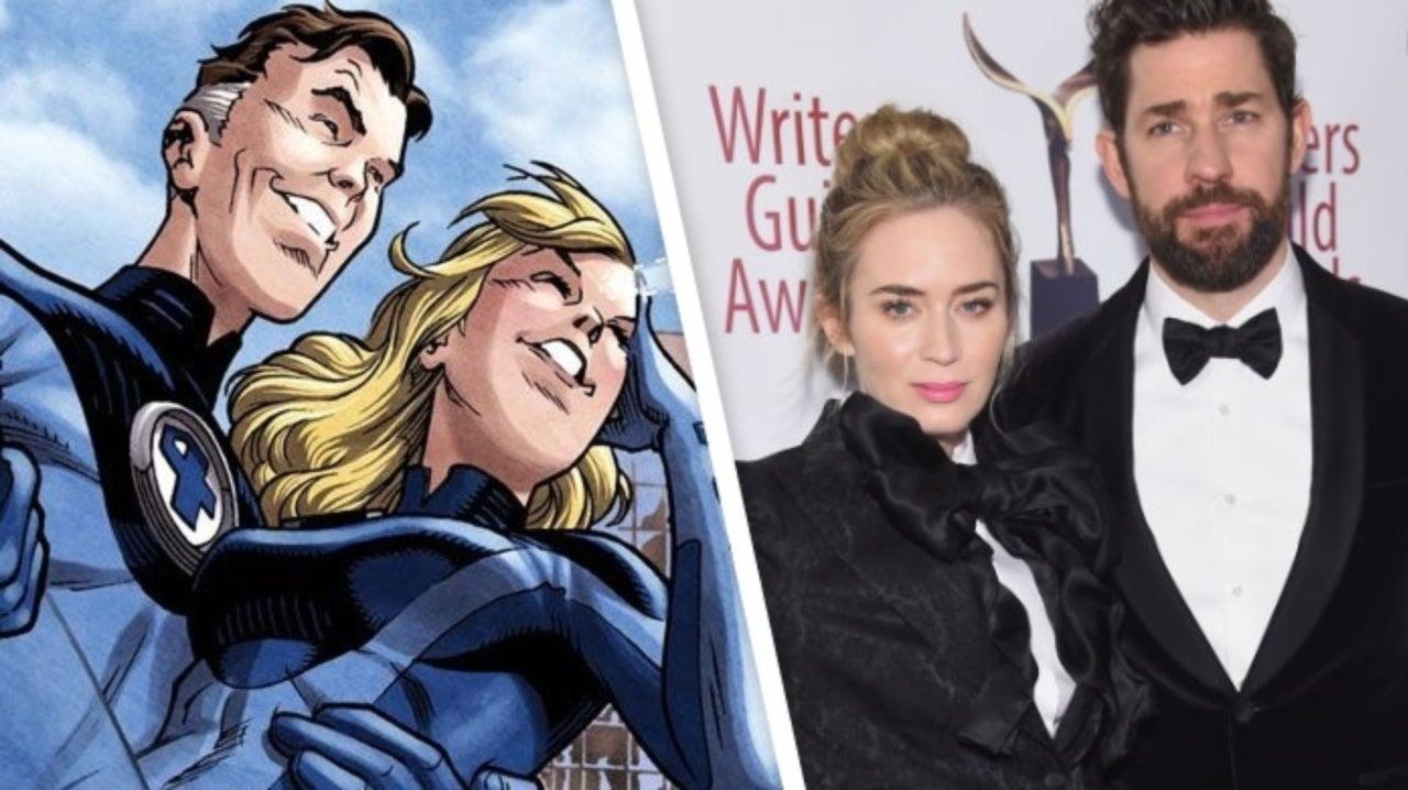 Fantastic Four MCU Fan Art Imagines Emily Blunt and John Krasinski as  Marvel's First Family