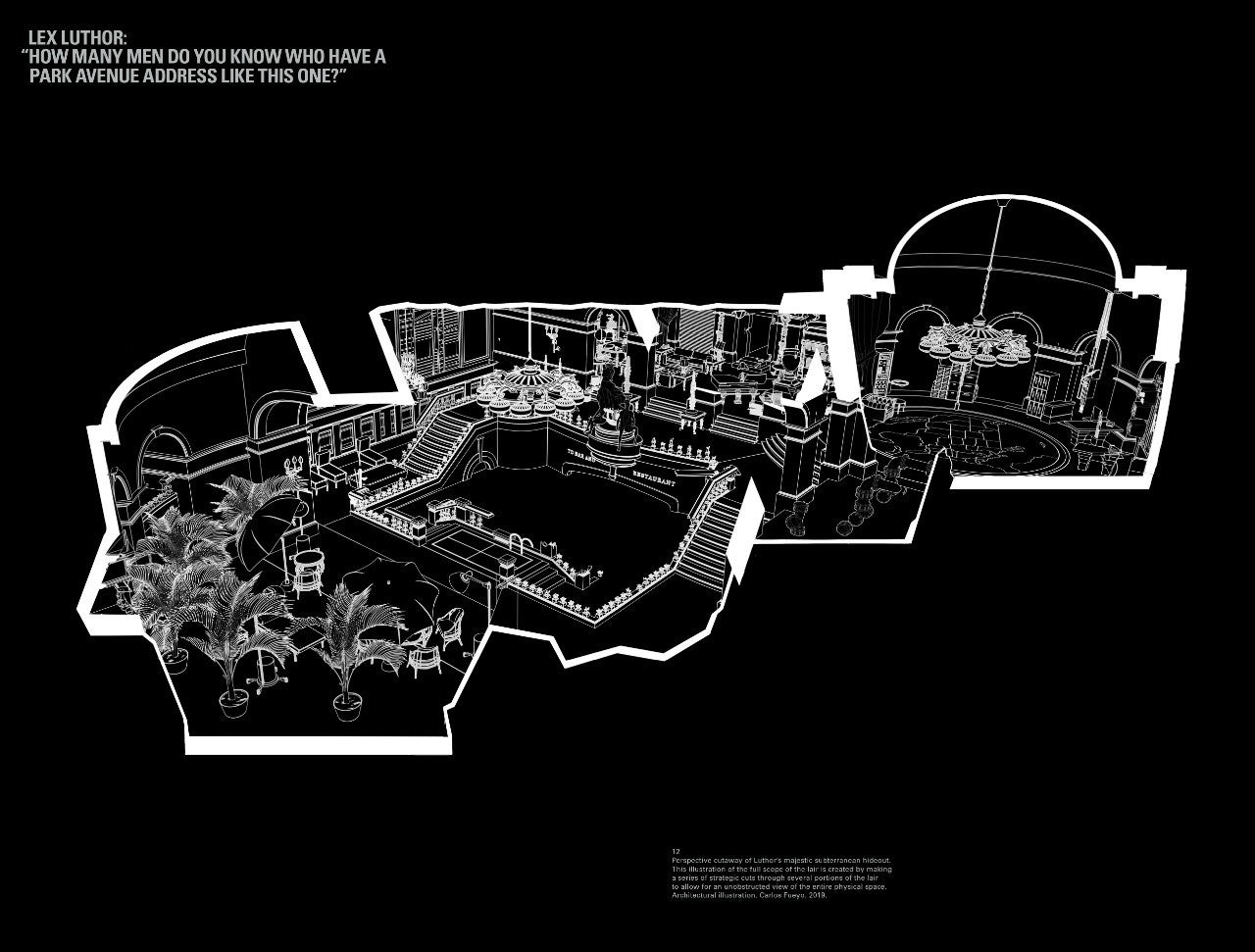 Lair-Superman-Grand Central Terminal 2 (Original Illustration)