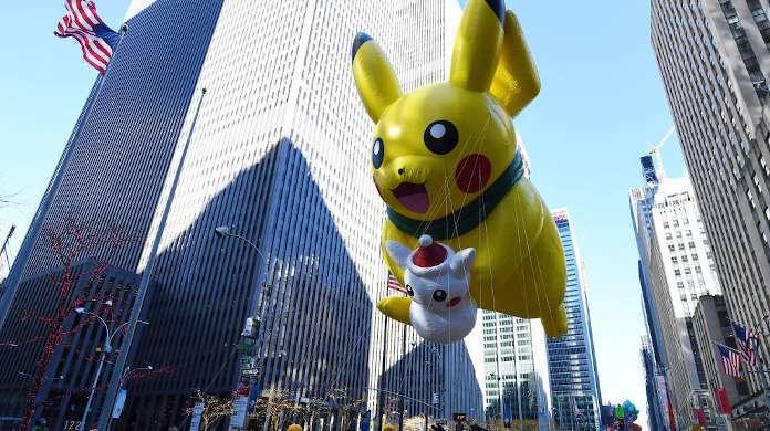 macys thanksgiving day parade pikachu pokemon float