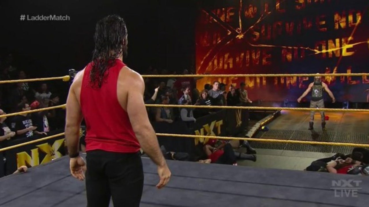 WWE's Seth Rollins Shows Up on NXT; Knocks Out Adam Cole