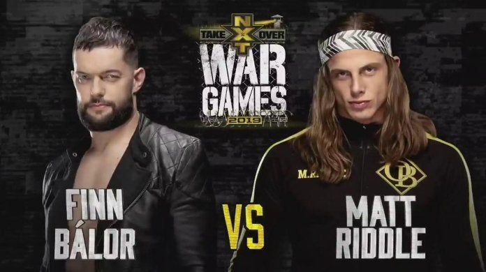 NXT TakeOver WarGames Finn Balor Matt Riddle