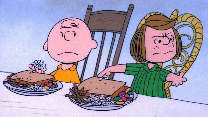 Peppermint PAtty Charlie Brown Thanksgiving
