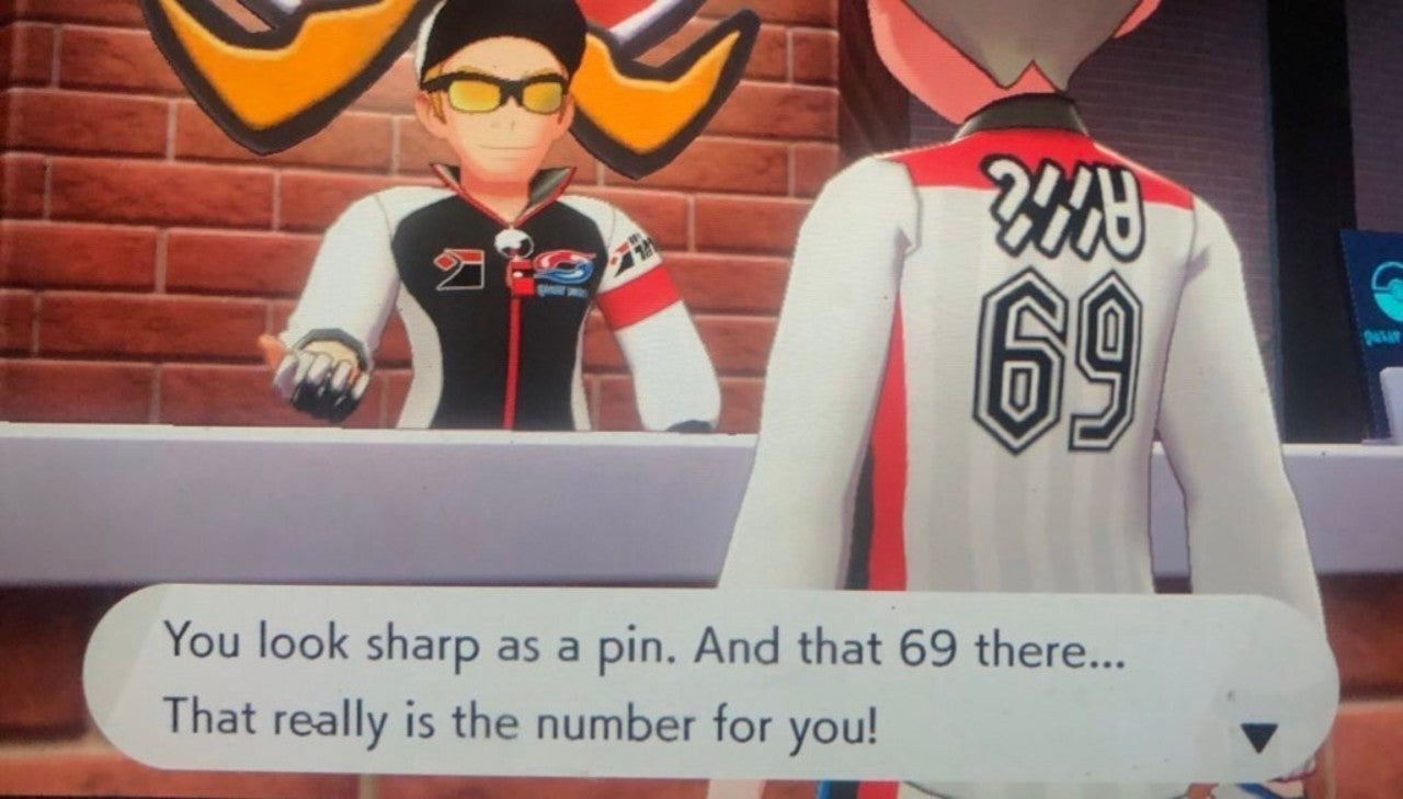 Yes, You Can Pick 69 or 420 as Your Jersey Number in Pokemon Sword and Shield