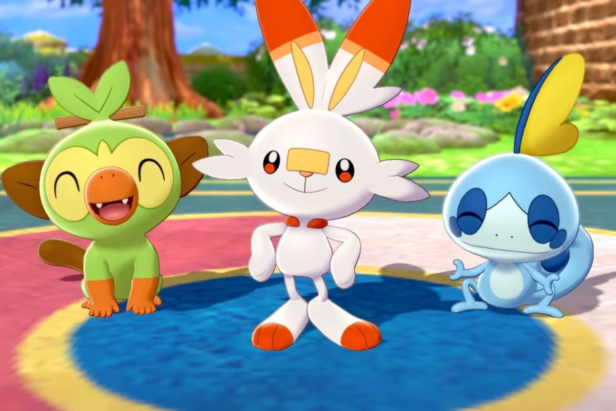 pokemon sword starters