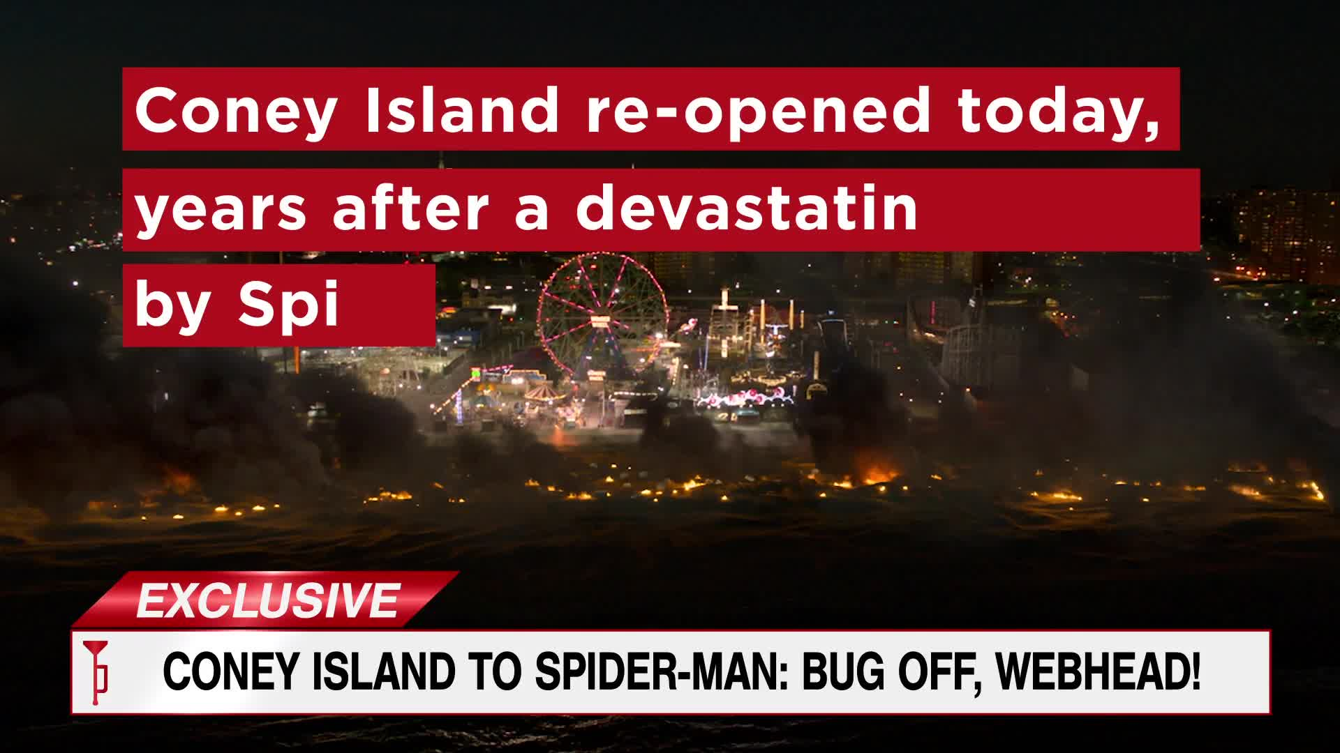Spider-Man: Far From Home - TheDailyBugle.net: EXCLUSIVE Coney Island re-opened years after devastating crash [HD] screen capture